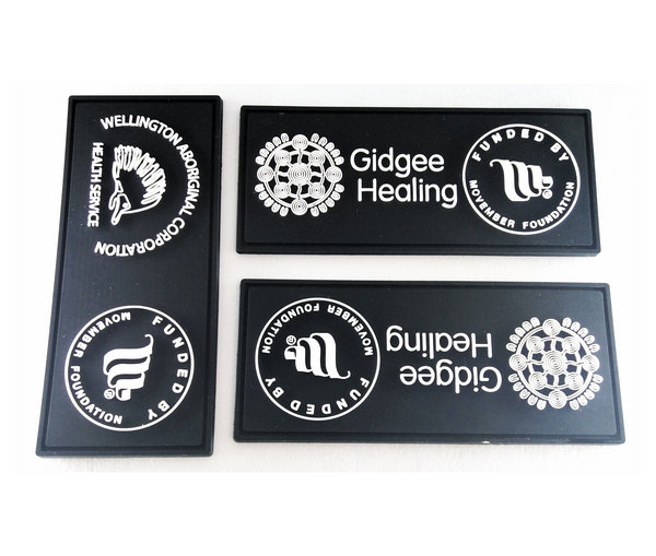 Custom soft pvc rubber patches no minimum