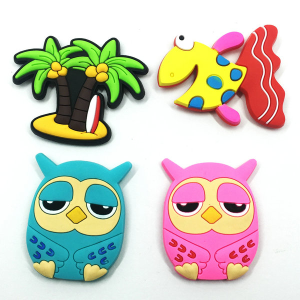 Cartoon soft PVC refrigerator magnets
