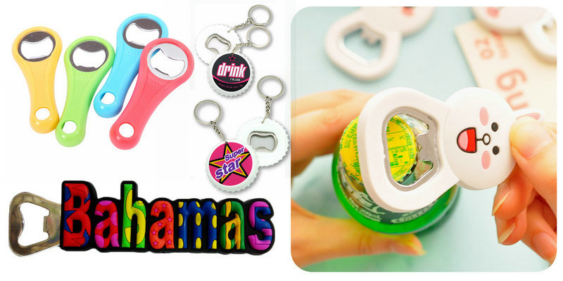 Custom PVC bottle opener with good quality and lowest price.Make your bottle opener unique and colorful.Make them become keychains or fridge magnet.Email:info@pvccreations.net