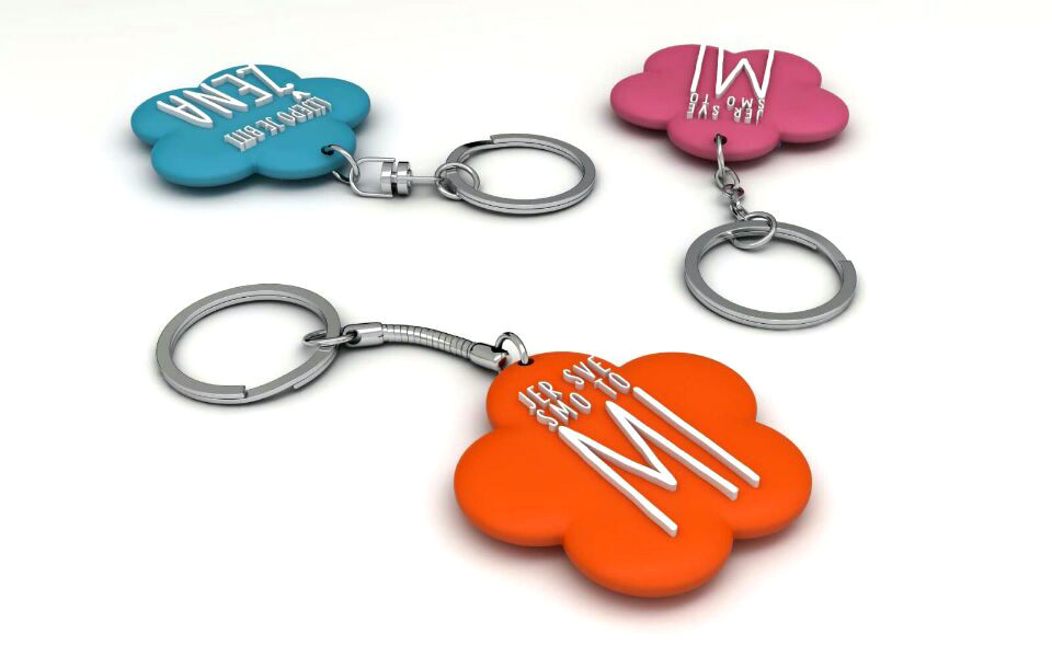 how to custom PVC rubber keychains