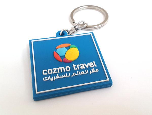 Customized logo PVC keychains