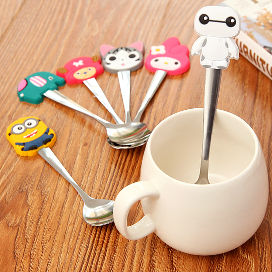 custom PVC rubber cartoon spoon for kids make of Eco-friendly material,easy to clean,delicate and lovely appearance.used for home,Hotel&Restaurant,school,as promotion gifts, kids toy, party gifts.