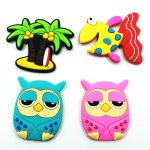 fridge magnets for kids made from Eco-friendly pvc rubber material ,can be 2d/3d,waterproof,beautiful and fashionable, with funny, stong, alphabet, cartoon animal, bottle photo frames etc cool&cute design ,for your kitchen, fridge, kids,business as a souvenir, decoration items,Christmas Gift.