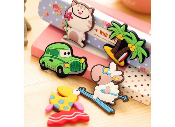fridge stickers made from Eco-friendly pvc rubber material ,can be 2d/3d,waterproof,beautiful and fashionable, with funny, stong, alphabet, cartoon animal, bottle photo frames etc cool&cute design ,for your kitchen, fridge, kids,business as a souvenir, decoration items,Christmas Gift.