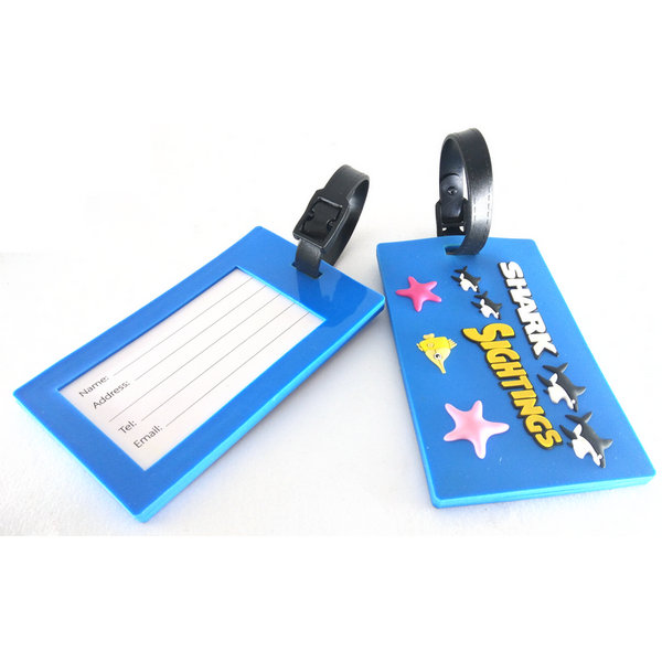 Custom PVC luggage tags by China factory.with highest quality and lowest price,make your bag tags unique,make your logo really stand out,expand your brand.