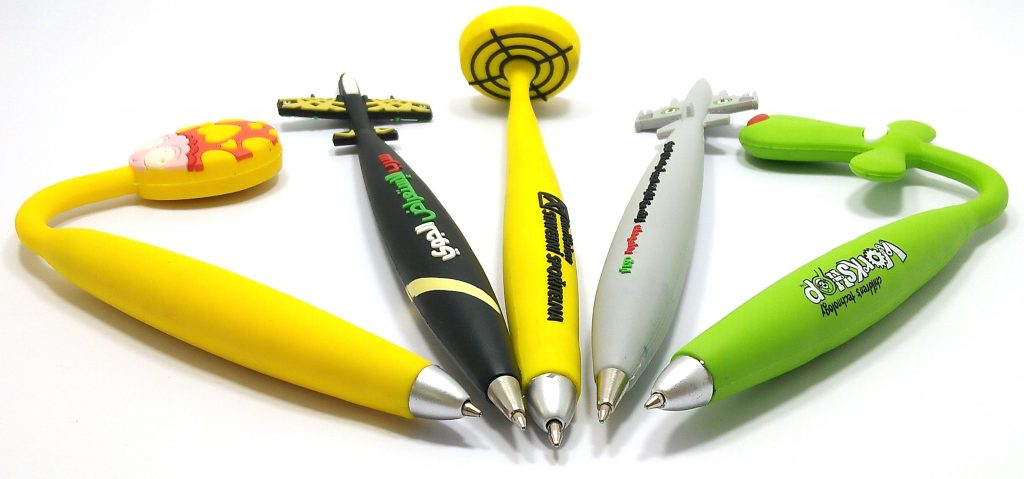 custom soft pvc rubber promotional pens on line by pvccreations,make your key chains unique.OEM&ODM from China factory,email:info@pvccreations.net