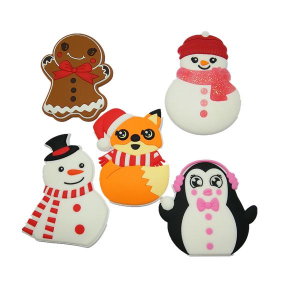 pvc fridge magnet christmas gift tags