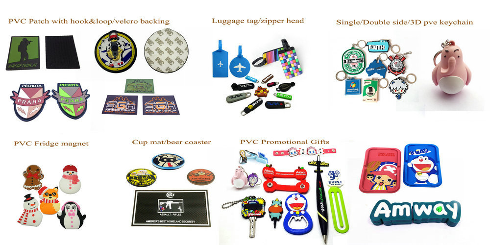 custom PVC promotional gifts by China factory directly.products master with 14 years experience.60% worker with 6 tears working experience.
