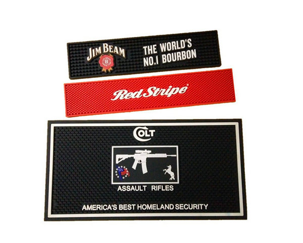 Our custom bar mats will catch your buyer's eye with its unique designs. Custom molds provide vibrant colors and cutting-edge details to the designs.